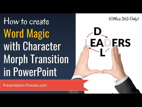 How to Create Character Morph Transition in PowerPoint 2016 (Text Effects for Office 365)