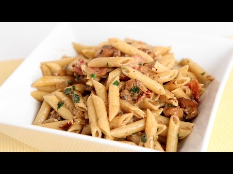 Creamy Pasta w/ Chicken and Bacon Recipe - Laura Vitale - Laura in the Kitchen Episode 822