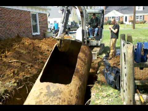 removing a 2000gal underground storage tank.