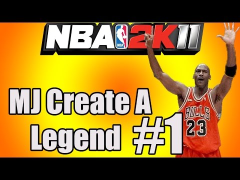 NBA 2k11 - Throwback Series - MJ Create A Legend #1