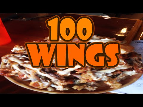 100 HOOTERS WINGS!  - National Chicken Wing Day 2015