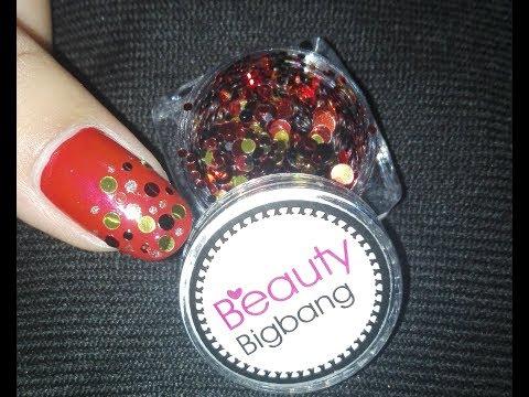 Festive Nail Art Tutorial (Product Review: BeautyBigBang ) Holiday Nail Art Design | Rose Pearl