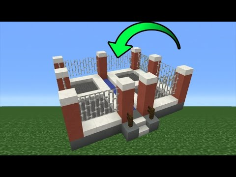 Minecraft Tutorial: How To Make A WORKING Trampoline