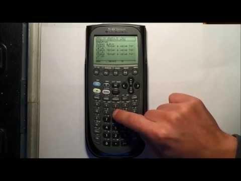 Programming The Quadratic Equation into a TI-89 Titanium Calculator