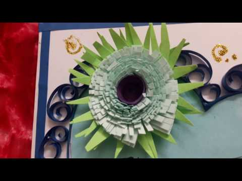 How to make greeting card with quilling(for beginners)