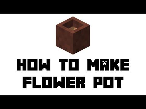 Minecraft Survival: How to Make Flower Pot