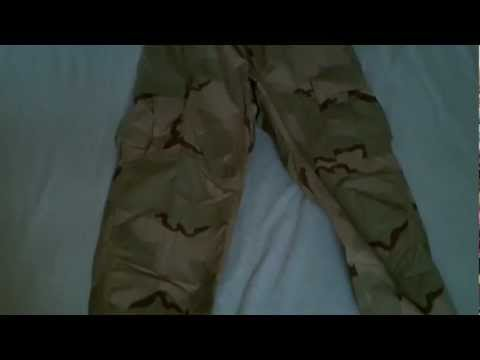 3-Color Desert Camouflage and BDU Cut Review - Pants