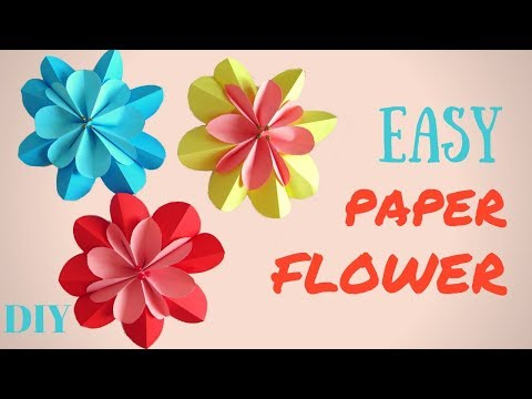 Easy Paper flower DIY  3D Spring Flowers - Hand made