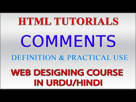 HTML Tutorials in Urdu Part 4 - HTML Comments | How to Add Comments in HTML Web Page