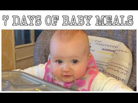 WHAT MY BABY EATS FOR DINNER - STAGE 2 - 7 MONTHS PLUS | My Fashion Cupboard Baby