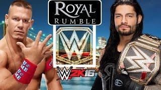 Roman Reigns vs John Cena | WWE Royal Rumble 2016! WWE 2K16 Prediction.