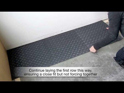 Vinyl Tile Loose Lay Installation