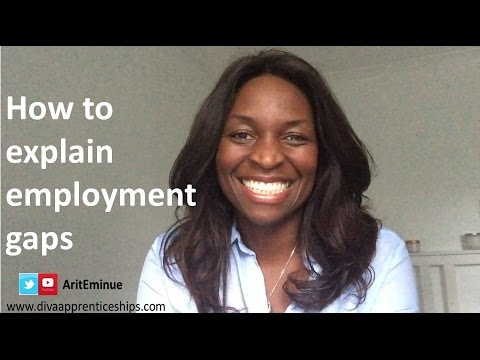 How to explain employment gaps