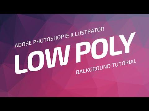 Low Poly Background Tutorial | Adobe Photoshop & Illustrator