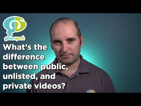 What's the difference between public, unlisted and private videos? Green Spark Vlog Episode 08