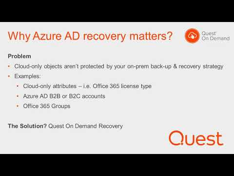 Discover cloud-only Azure AD objects in Quest On Demand