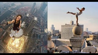 Meet Angela Nikolau, the Russian Daredevil Girl Who Climbs Most Dangerous Places to Take a Selfie