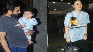 Taimur Ali Khan with parents Saif & Kareena @ Soha Ali Khan