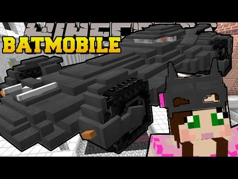 Minecraft: THE BATMOBILE (DRIVE THE COOLEST CAR EVER!) Custom Command