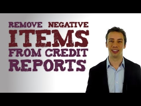 How Negative Items Can Be Removed From Credit Reports | Family Credit Repair