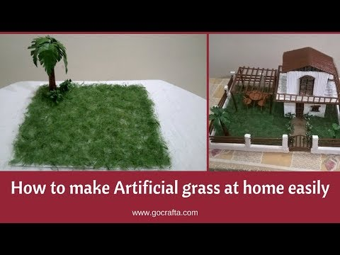 How to Make Artificial Grass at Home Easily | Fake Grass for Project