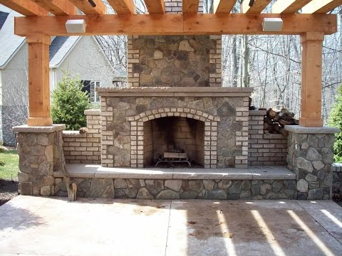 Fireplaces With Pergola