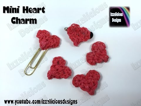 Rainbow Loom Mini Heart | Hart Charm (Valentine) - 32 bands required
