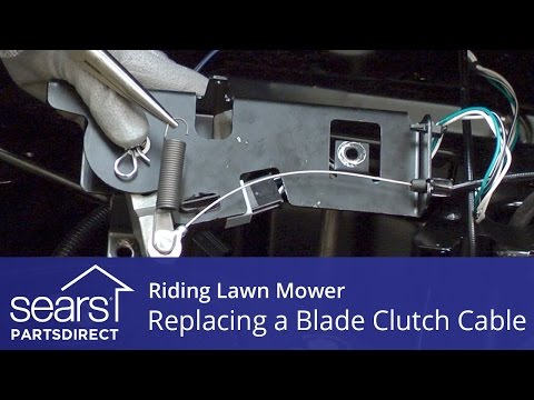 Replacing a Blade Clutch Cable on a Riding Lawn Mower