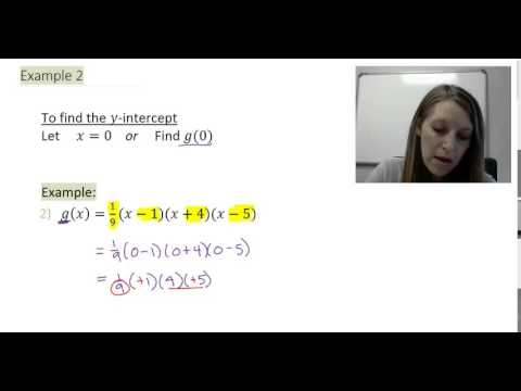 2: Finding the y-intercept of Polynomial Functions