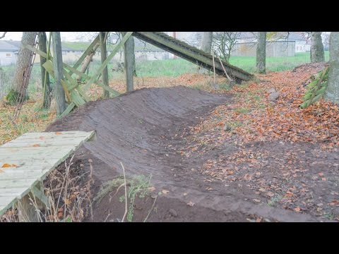 Trail Building #4  180° Berm With Drop In