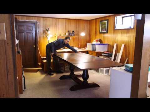 Walnut Pedestal Table