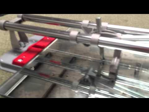 Using a tile cutter to cut mirror or glass tiles