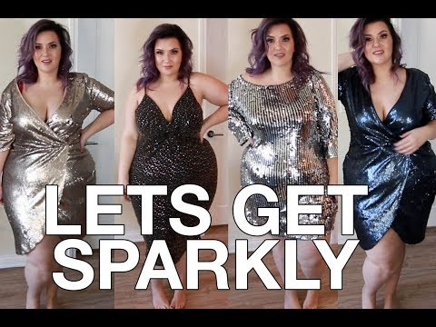 PLUS SIZE FASHION TRY ON HAUL | SO. MUCH. SPARKLE. Boohoo has it on lock! | Sometimes Glam