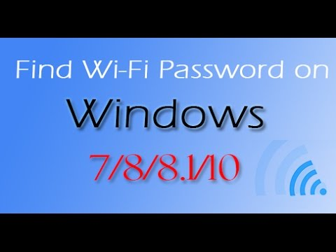WIFI Password- How to View saved wifi passwords on Windows 7/8/8.1/10 PC/Laptop |Tech Hemanth
