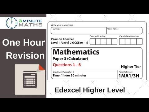Edexcel Higher GCSE Maths - Questions 1 - 6 Revision
