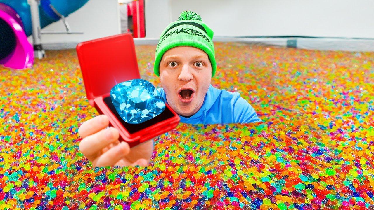 Hiding $100,000 DIAMOND In 50 MILLION ORBEEZ!