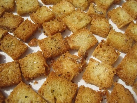Basic CROUTONS - How to make CROUTONS Recipe