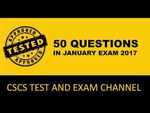 50 CSCS questions  in Jan 2017 examination