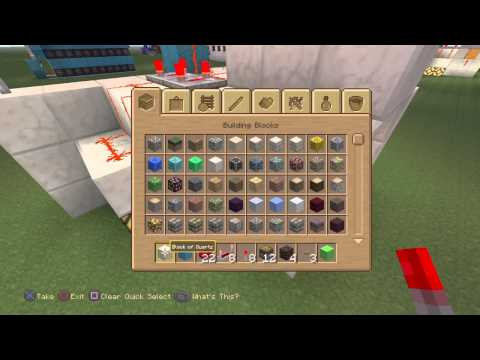 Minecraft PS4 2-Player jeb (2x2) door tutorial