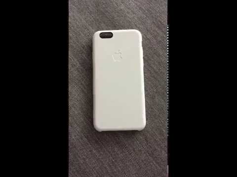 Original Apple white silicone case for iPhone 6 - Aging report
