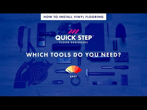 All the tools you need to install a vinyl floor | Tutorial by Quick-Step