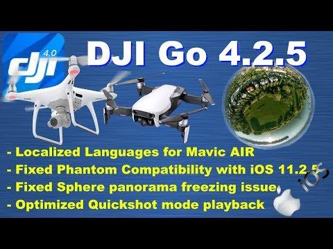 DJI Go 4.2.5 released