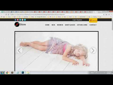 How to Create Ecommerce Website HTML CSS with Slider Part 4