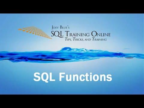 Sql Training Online - Sql Functions