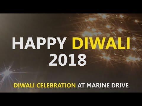 Diwali Celebration at Marine Drive | Fire Crackers at Marine Drive | Mumbai Diwali