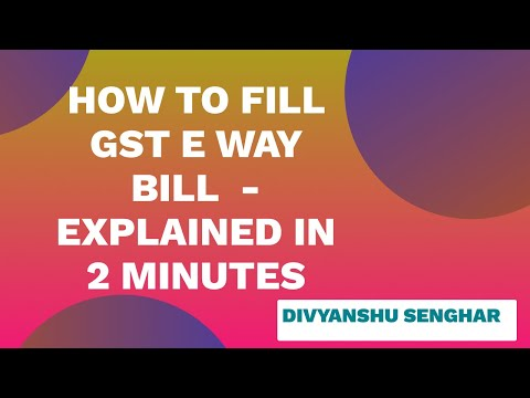 LIVE DEMO E-WAY BILL REGISTRATION in 2 minutes | How to fill GST E WAY Bill ? | CA DIVYANSHU SENGAR