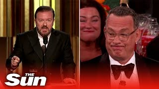 Ricky Gervais' funniest jokes at Golden Globes