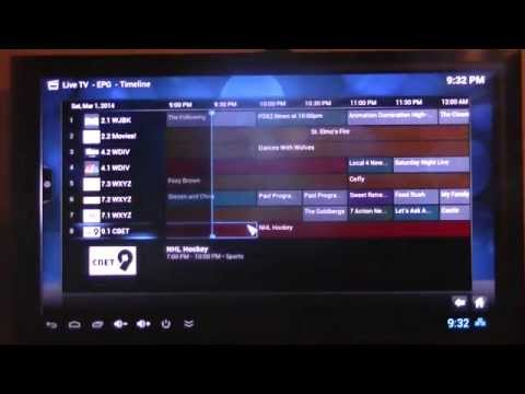 Android TV box running XBMC live TV