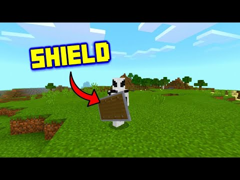 SHIELD In Minecraft Pocket Edition!! // Minecraft Bedrock Edition