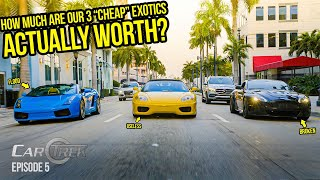 We Found Out What Our Cheap Exotics Are ACTUALLY Worth (& Accidentally CRASH The PRESIDENT'S HOUSE)